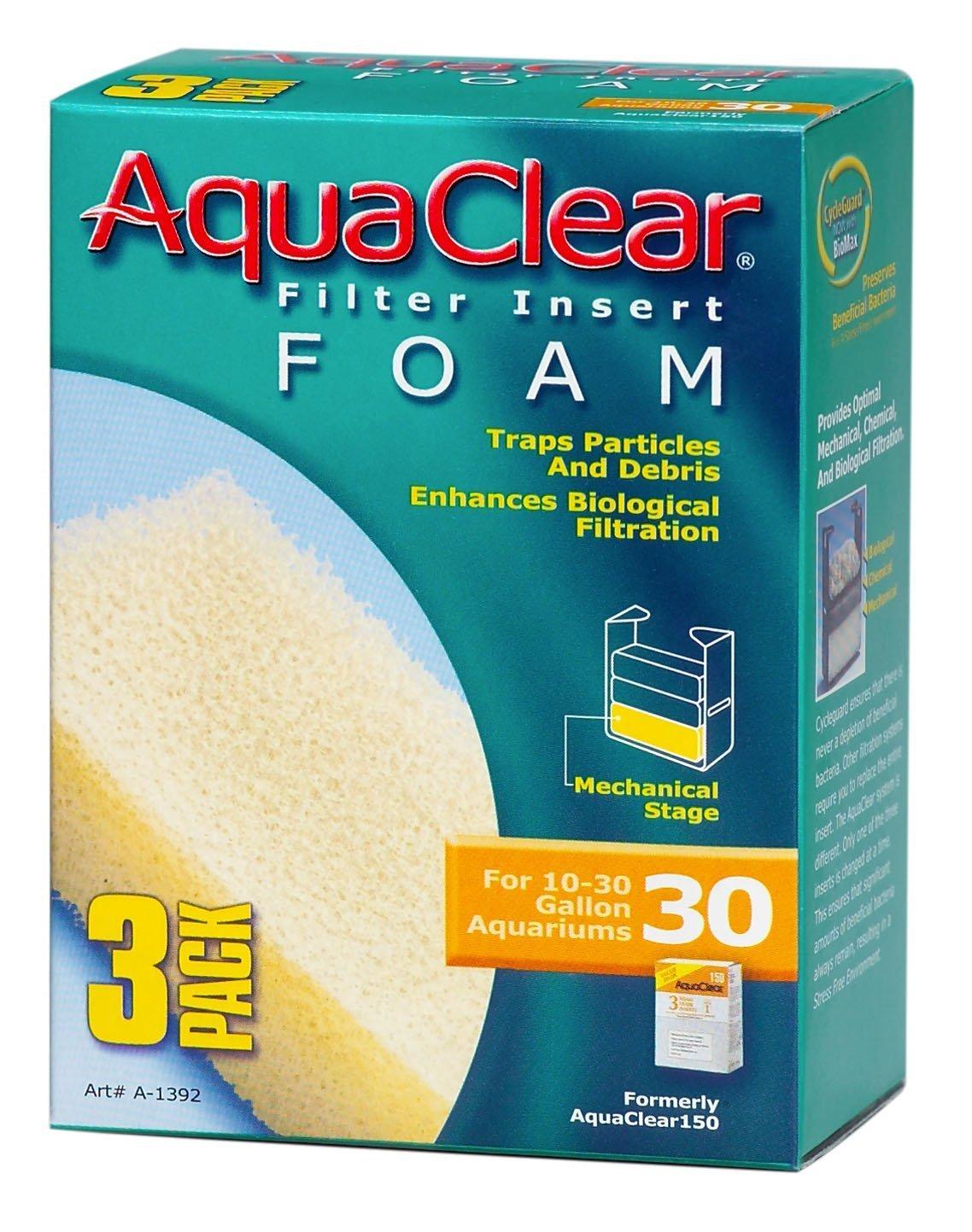 3-Pack Aquaclear Foam Filter Inserts for 5 to 20 Gallon Aquariums