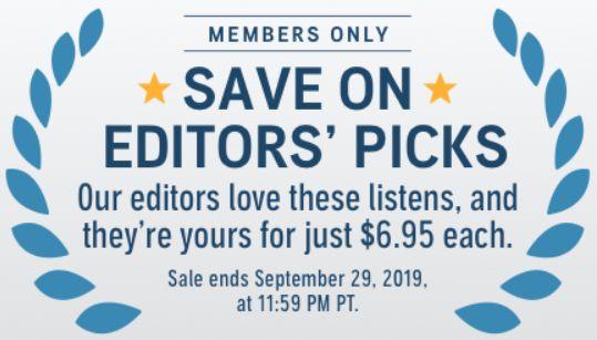 Audible Members: Audible Editors' Picks Sale on Select Audiobooks