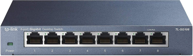 TP-Link TL-SG108 8-Port Unmanaged Gigabit Desktop Switch