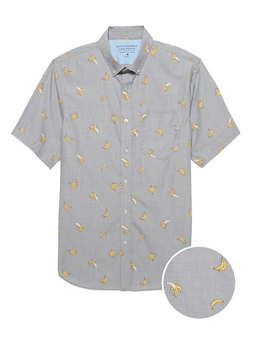 Banana Republic: Slim-Fit Non-Iron Dress Shirt $24, Slim-Fit Luxe Poplin Shirt
