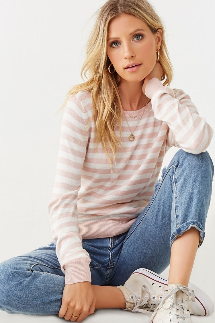 Forever 21: 25% Off Select Styles: Women's Striped Print Sweater
