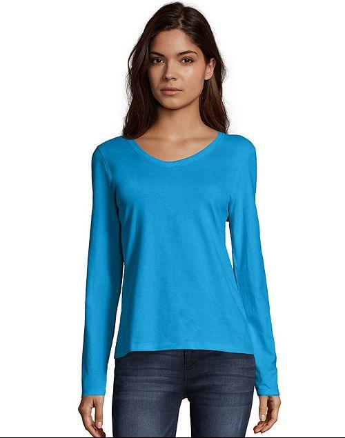 Hanes Women's: ComfortSoft Hoodie $5.60, Long or Short Sleeve T-Shirt