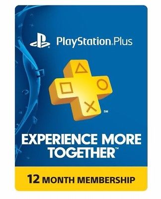 12-Month Sony PlayStation Plus Membership (Physical Card)