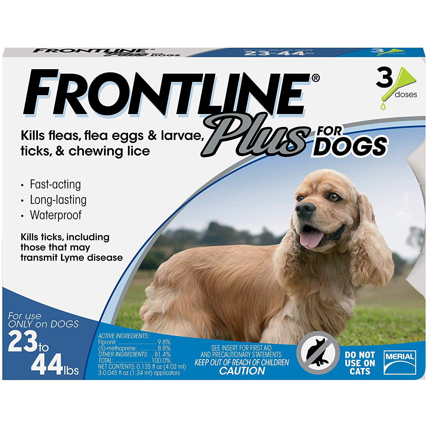 Flea & Tick Prevention for Dogs & Cats: Frontline Plus for Medium Dogs