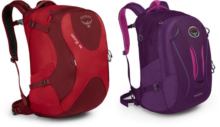 Osprey Daypacks: Ozone 35 Travel Pack + Women's Celeste Pack