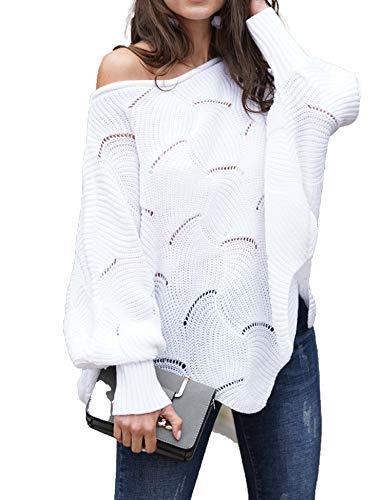 蝙蝠袖镂空毛衣,轻松穿出时尚感