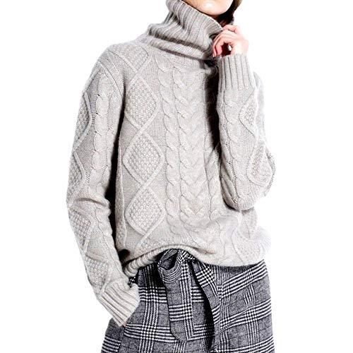 羊绒羊毛高领毛衣,宽松款更舒适时尚