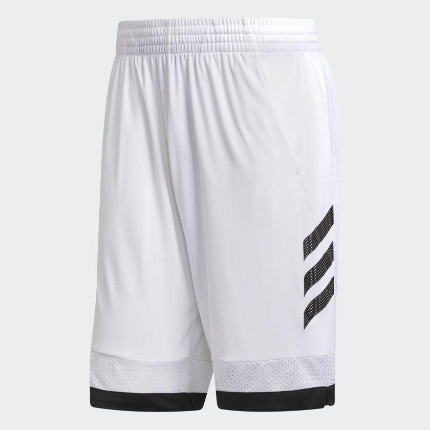 adidas Men's Pro Bounce Shorts (Black or Black/White)