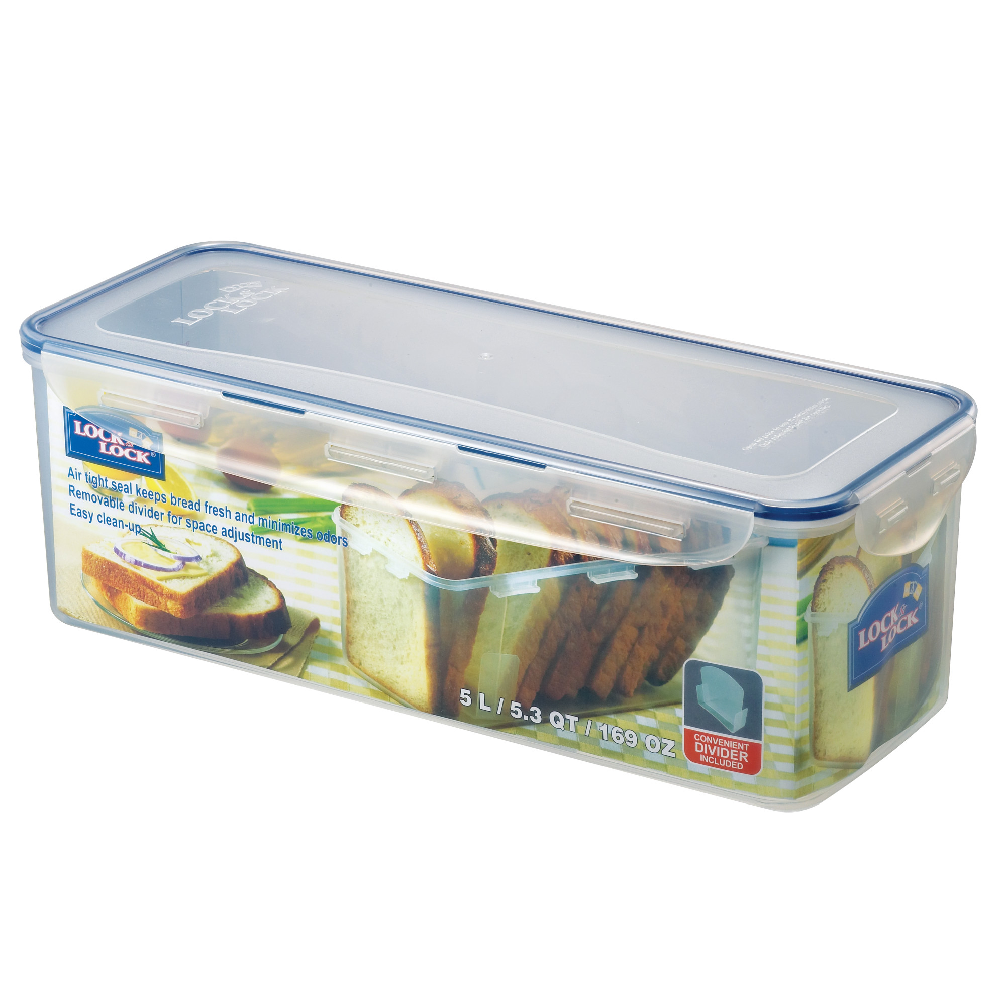 Lock & Lock Bread Box / Divided Food Storage Container