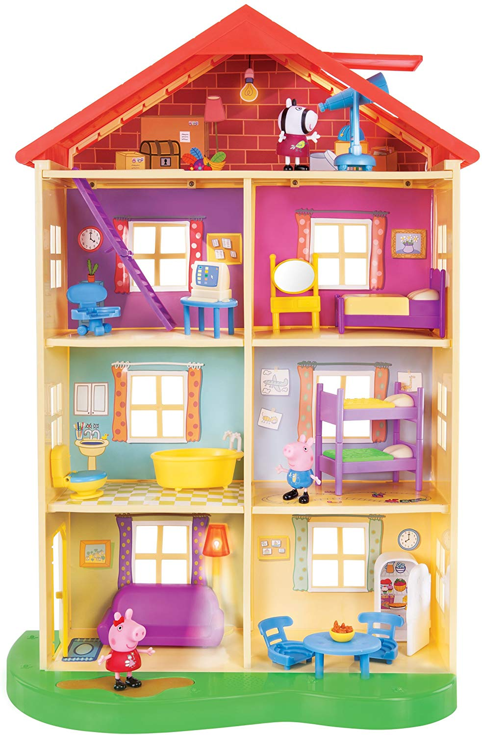 Peppa Pig Lights & Sounds Family Home Playset