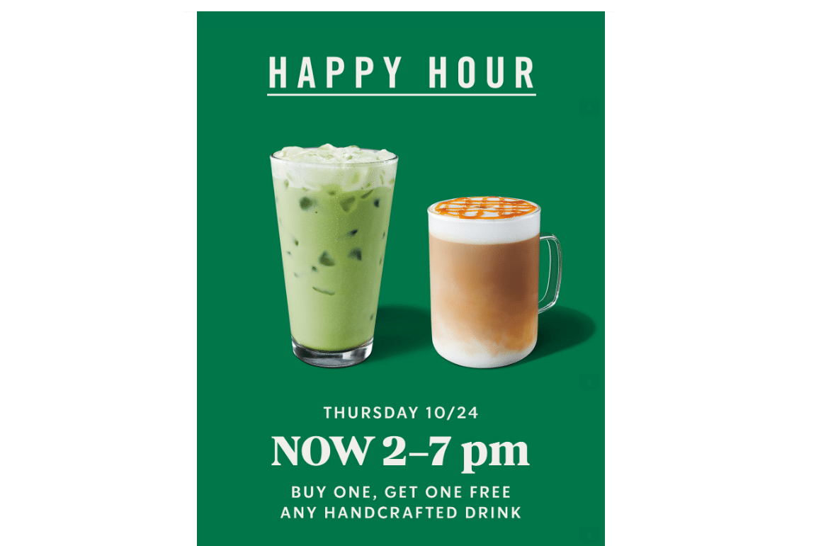 Starbucks Rewards Members: Any Handcrafted Drink (Grande or Larger)