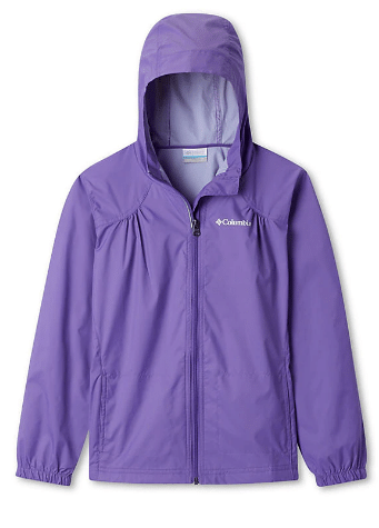 Columbia Girls' Switchback Rain Jacket (Grape Gum or Pink Ice)