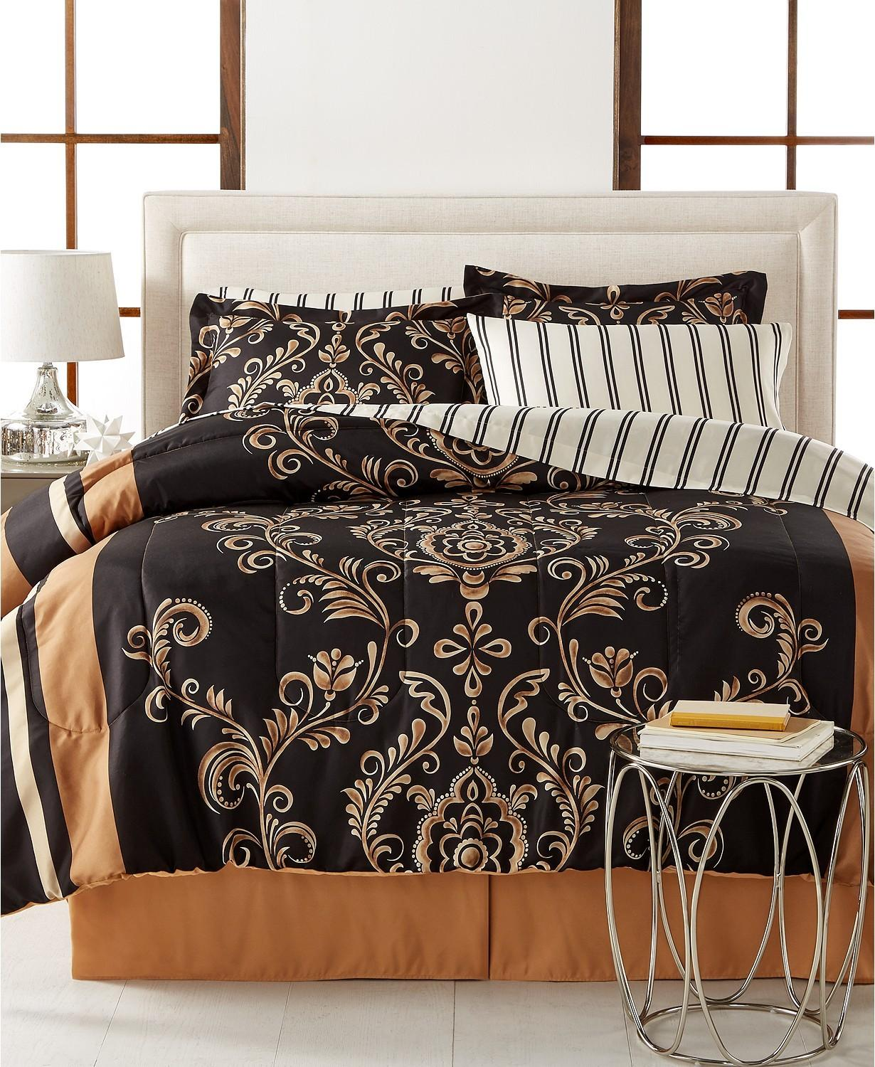 8-Piece Reversible Comforter Sets (Full, Queen, King or Cal King)