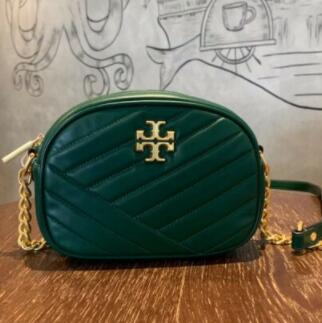 Tory Burch PERRY KIRA CHEVRON小号相机包  绿色