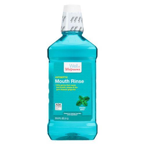 33.8-Oz Walgreens Antiseptic Mouthwash (various)