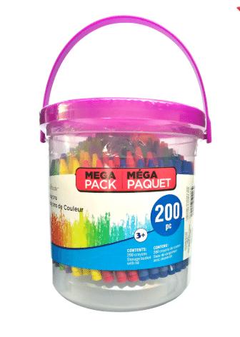 200-Piece Crayon Bucket By Creatology or 100-Piece Markers Bucket