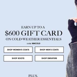 Neiman Marcus网站购正价时尚单品最高可得$600礼卡