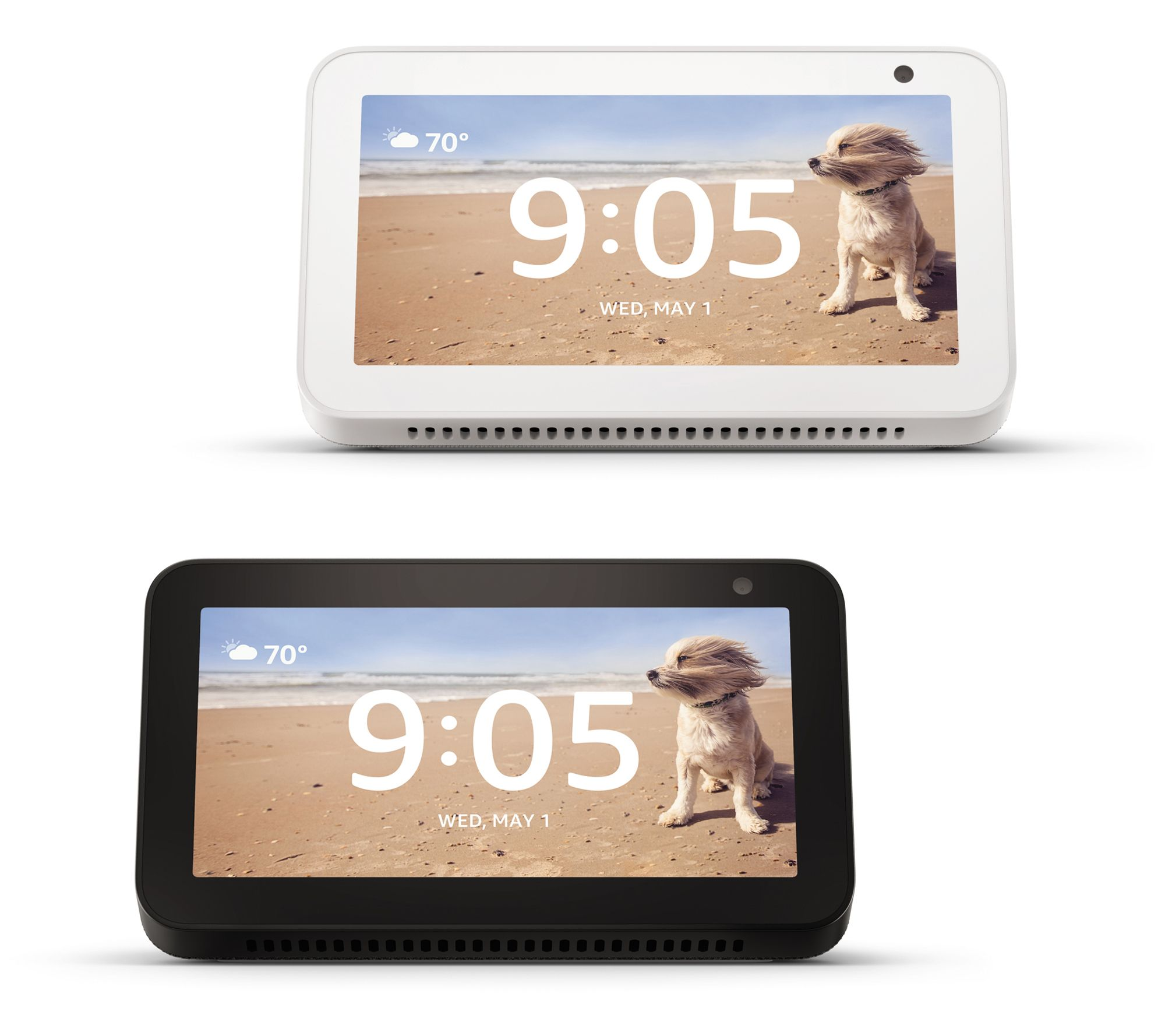 Amazon 2-Pack of Echo Show 5 w/ Smart Display and Alexa for $99.96 @ QVC.com