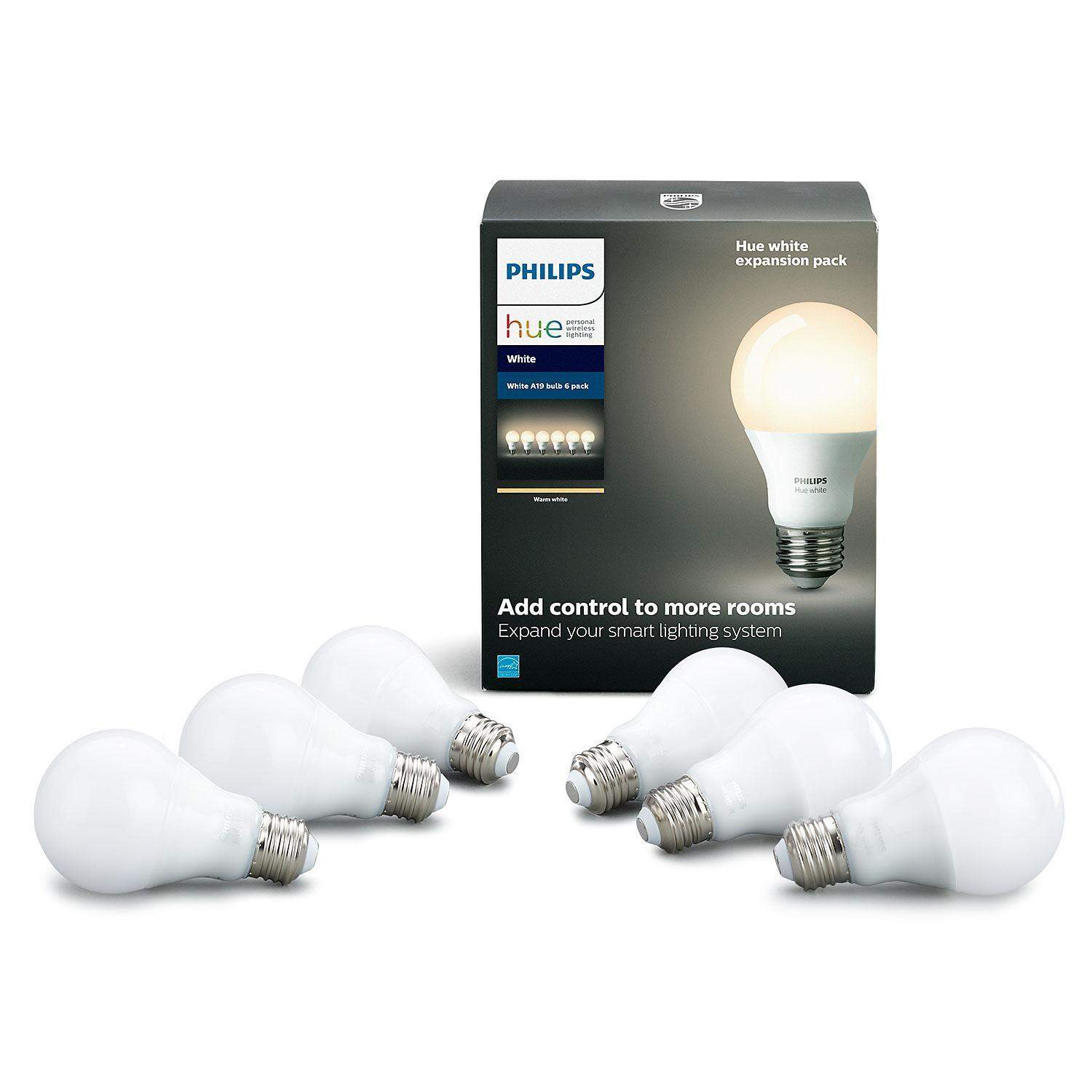 Philips Hue 6-Pack White Smart Bulb Expansion Pack - $29.81 YMMV