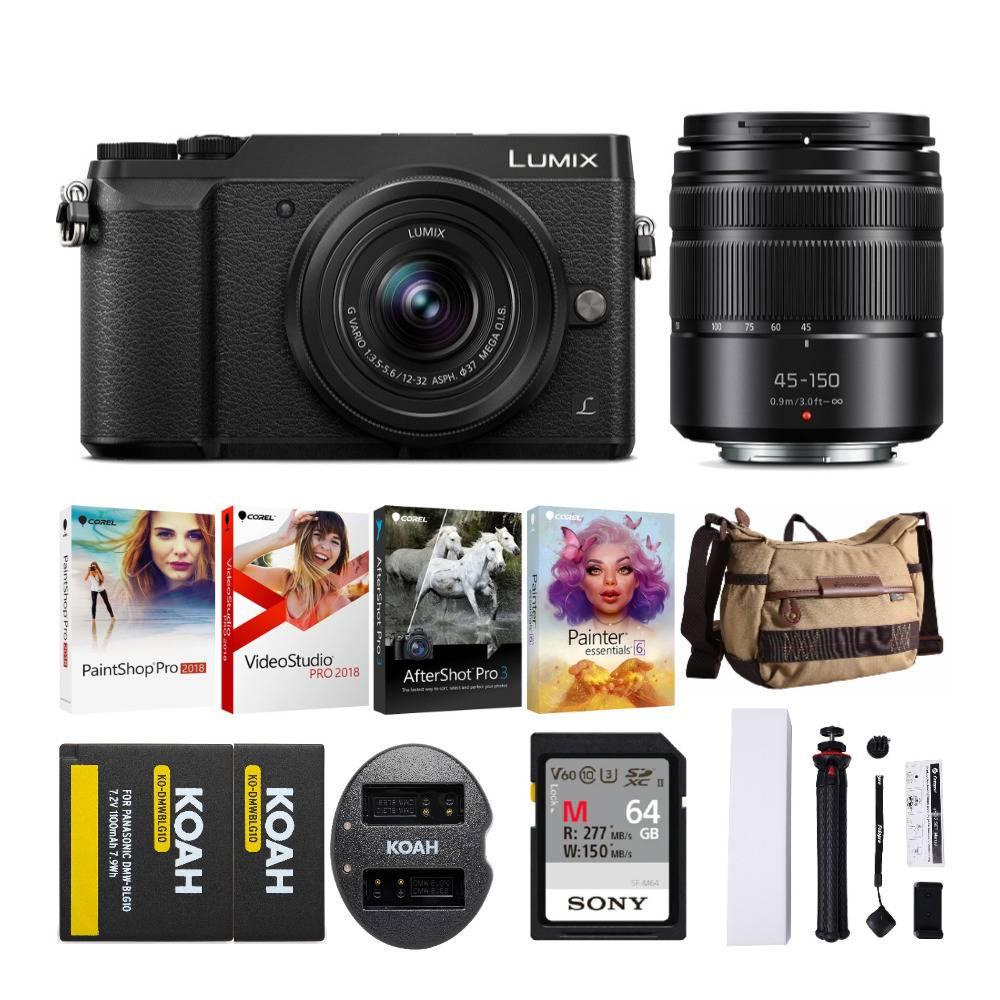 Panasonic Camera Bundles: GX85 Mirrorless w/ 12-32mm & 45-150mm + Vanguard Bag & 64GB Sony Memory Card Bundle $447.99 & More + Free Shipping