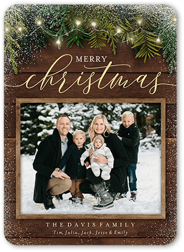 """ShutterFly 5"""" x 7"""" Personalized Photo Christmas Cards"""
