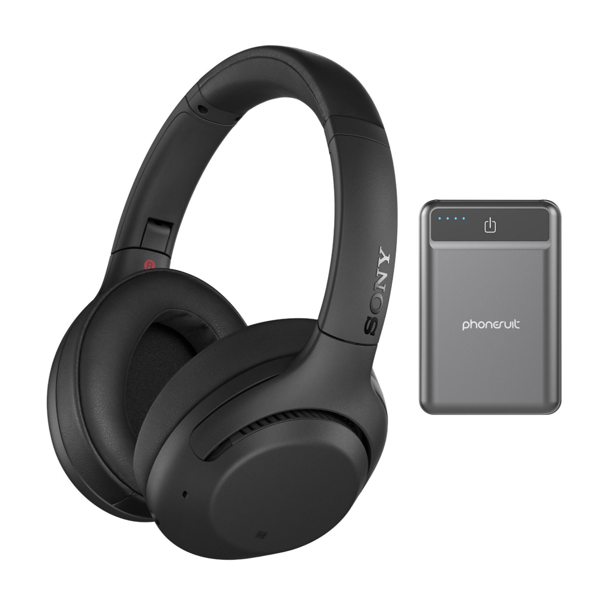 Sony WH-XB900N Wireless Noise Cancelling Headphones Bundle (Black)