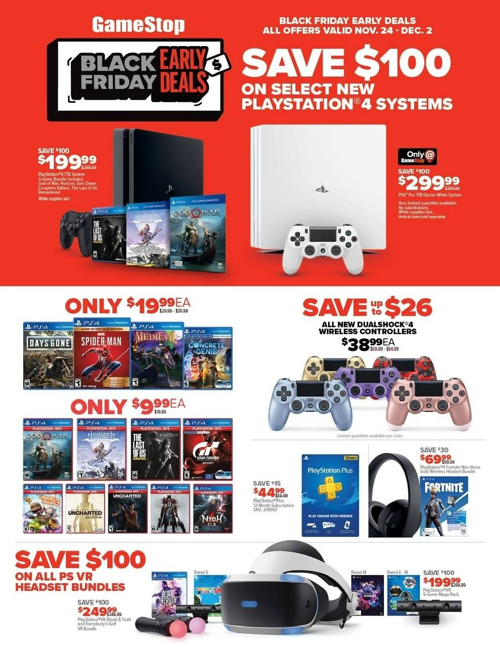 GameStop: Upcoming Black Friday Video Game Deals Preview List