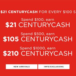 C21stores网站现有全场满额最高赠送$210礼卡