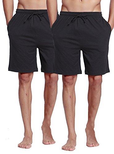 超舒适男士短睡裤2条