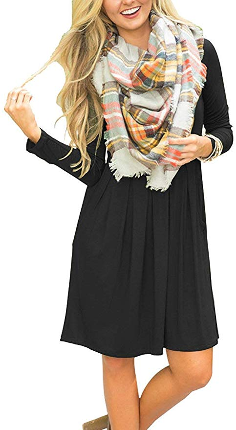 23三种花色!衣橱必备的宽松休闲飘逸连衣裙
