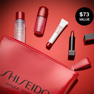 Shiseido资生堂官网满$75送5件套礼包