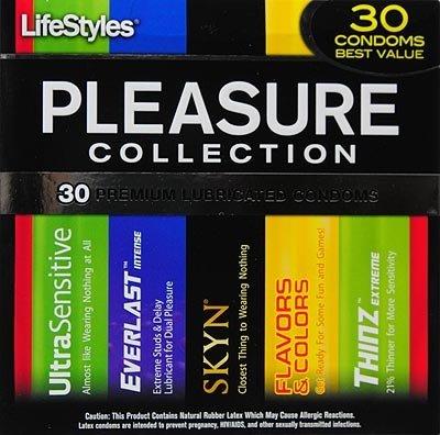 30-Count Lifestyles Pleasure Collection Condoms
