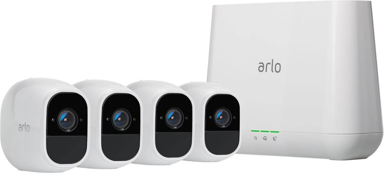 Arlo Pro 2 Security Camera System w/ 4 Wireless 1080p Cameras