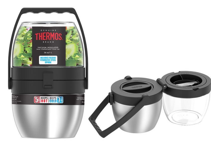 在公司也能吃到热腾腾的午餐!Thermos双层保温罐
