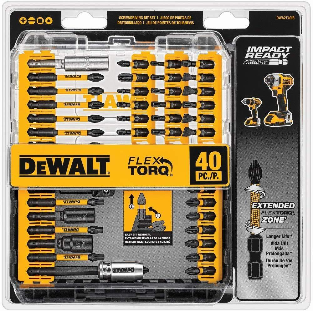 40-Piece DeWALT Impact Ready FlexTorq Screw Driving Set