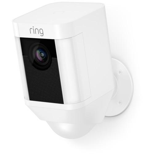 Ring Spotlight Cam 1080p Outdoor Wi-Fi Camera with Night Vision (Battery-Powered, White) - B&H $139