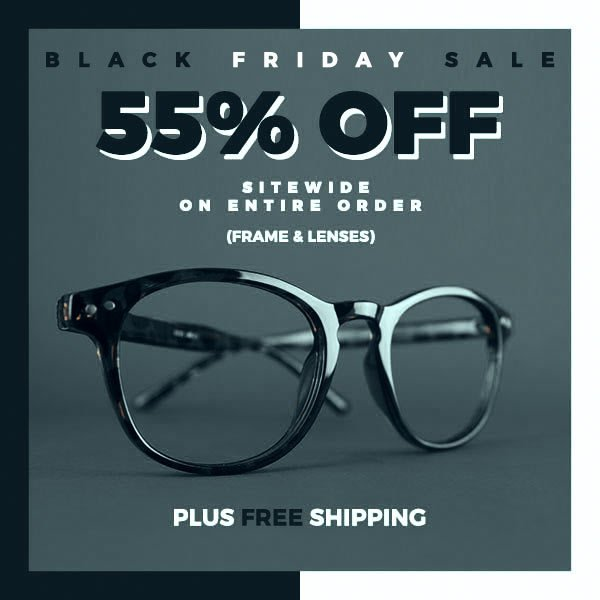 Goggles4u BF Sale 55% off Sitewide with free s/h - Prescription Eyeglasses from $3
