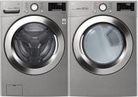 LG 4.5 Cu. Ft. Front Load Washer (WM3700HVA) + LG TurboSeries 7.4 Cu. Ft. Electric Front Load Dryer (DLEX3700V) + Install Kit - $1,290.99 after Coupon & MIR + FS