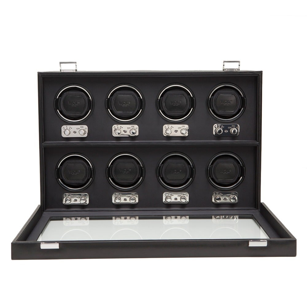 WOLF 270802 Heritage 8 Piece Watch Winder with Cover (Black) $924.99 +Free Shipping