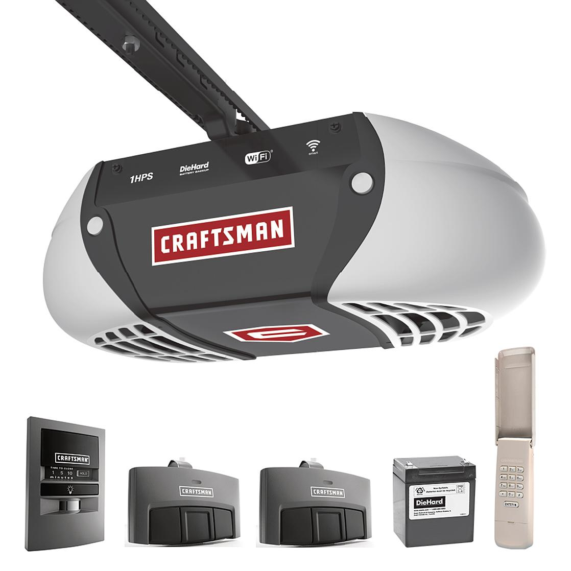 Craftsman 1 HP Ultra-Quiet Belt Drive Garage Door Opener + $100 in Points