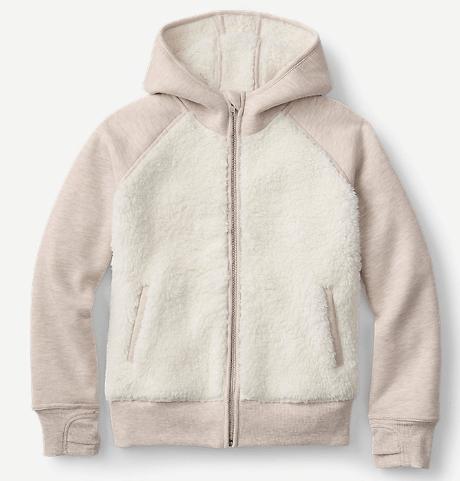 Boys' Camp Fleece Pullover Hoodie $10, Girls' Camp Fleece Bonded Sherpa Hoodie