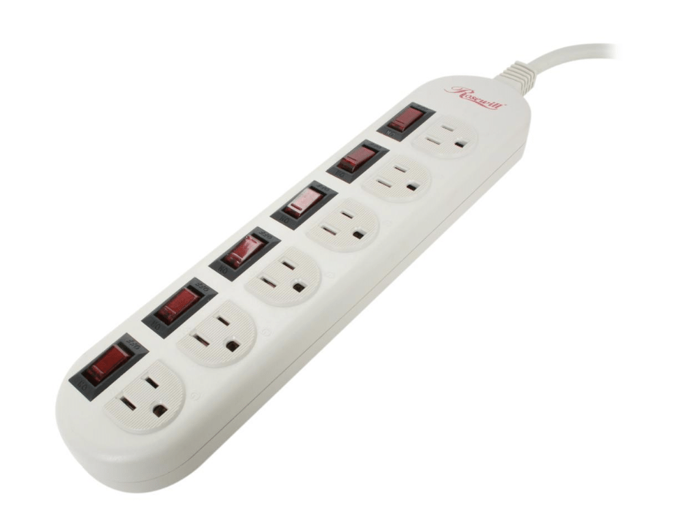 Rosewill 6-Outlet 1875W Power Strip w/ Individual Switches & 6' Cord