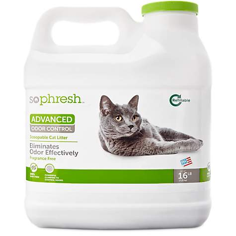 16-lb So Phresh Advanced Odor Control Scoopable Fragrance Free Cat Litter
