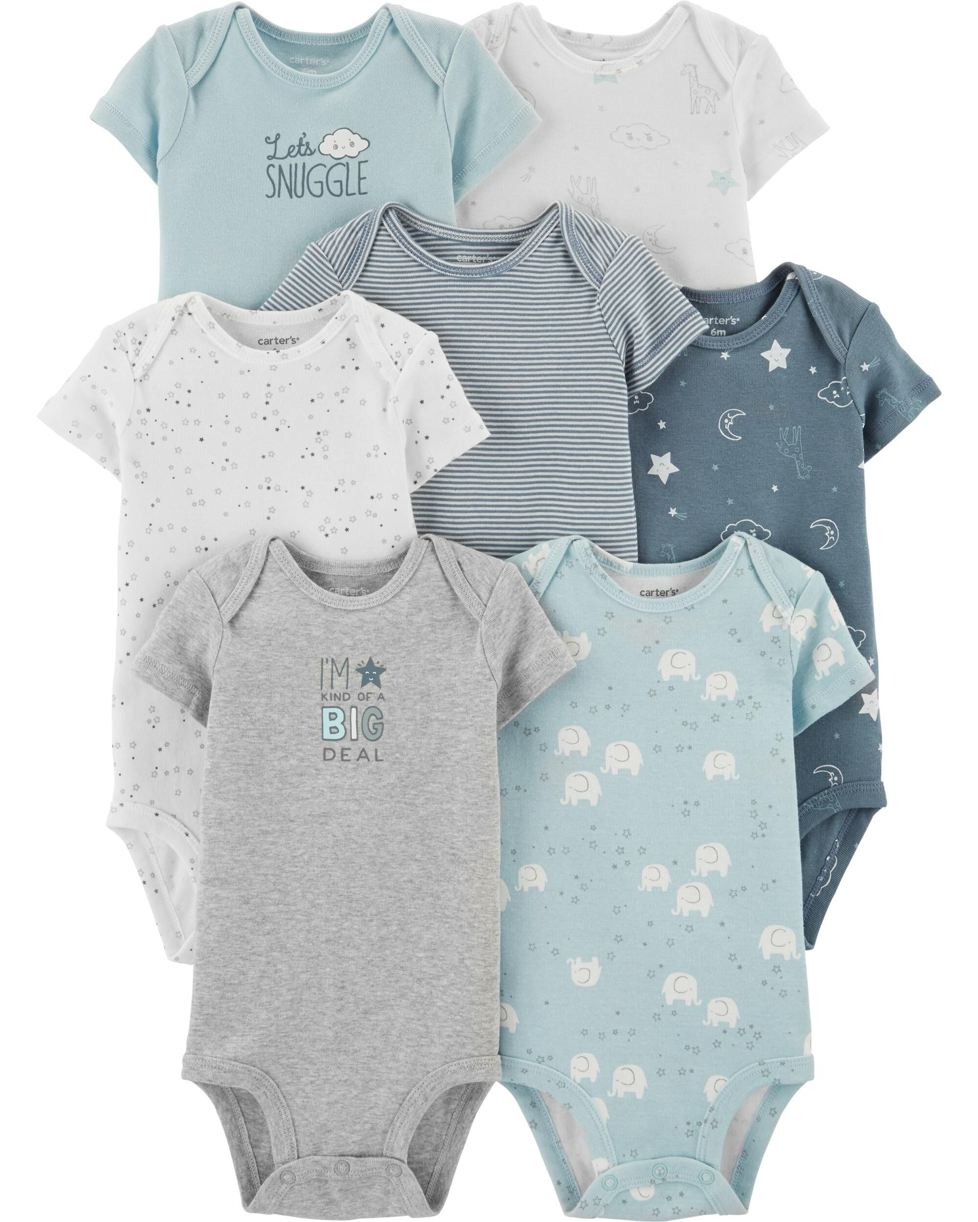 Carter's Baby Original Bodysuits: 6 to 7-Pack (various styles)