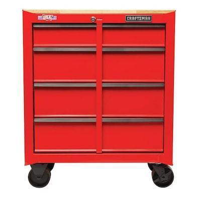 Craftsman 1000 Series 4-Drawer Steel Rolling Tool Cabinet (Red)