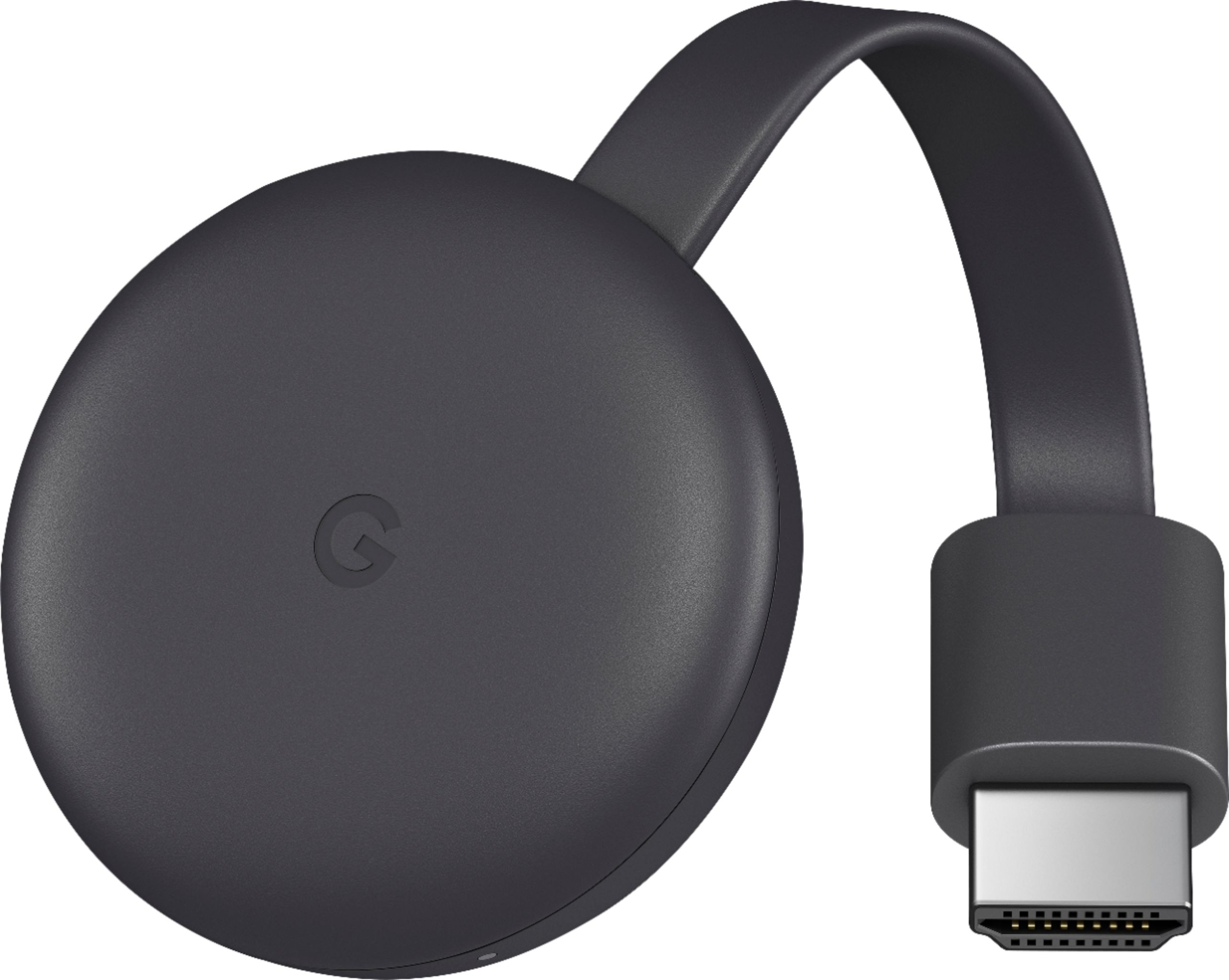 Google Chromecast Streaming Media Player (3rd Generation; Charcoal)