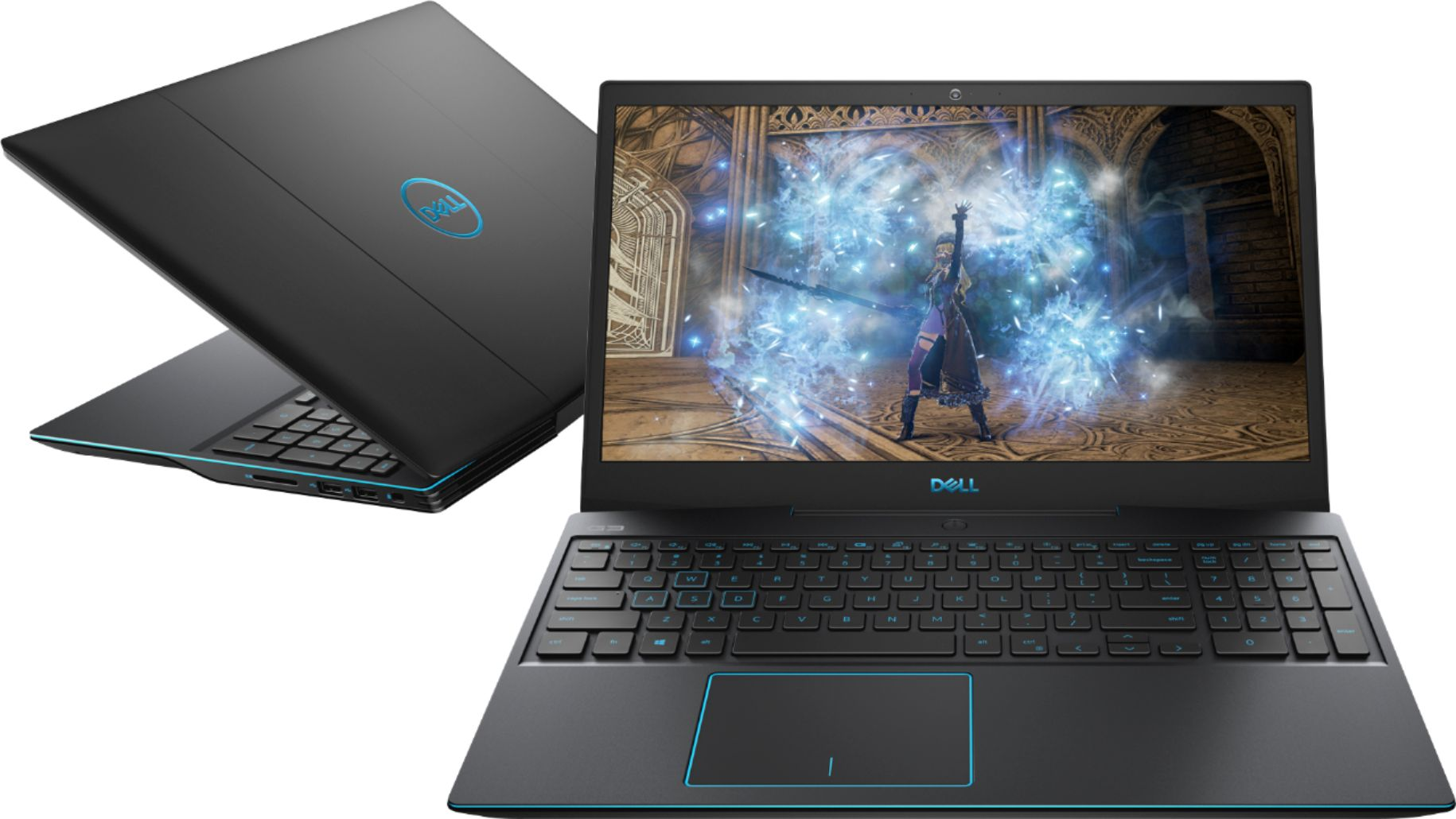 """Dell - G3 15.6"""" Gaming Laptop - Intel Core i5 - 8GB Memory - NVIDIA GeForce GTX 1660Ti - 512GB Solid State Drive - Black $699.99"""