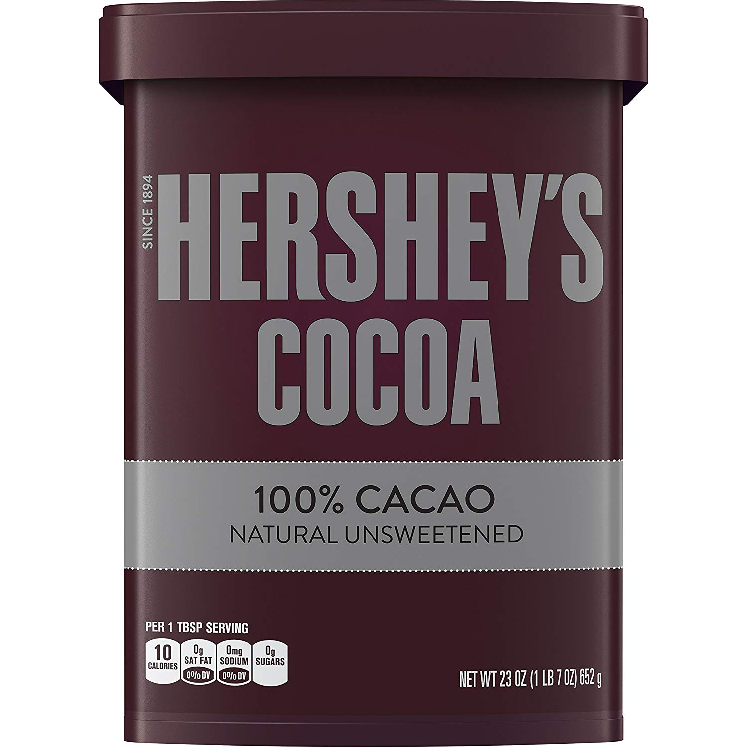 23oz. Hershey's Natural Unsweetened 100% Hot Cocoa Powder