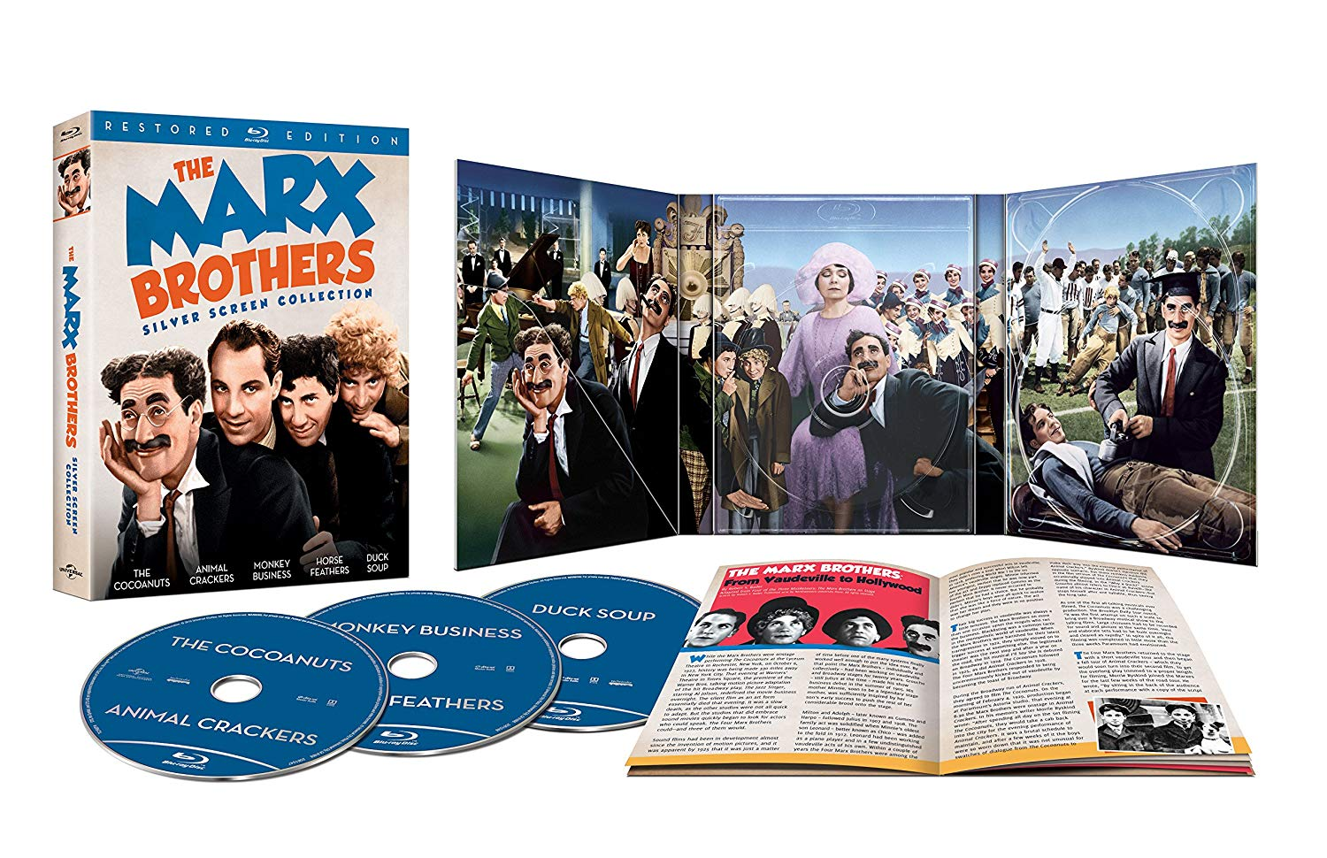 The Marx Brothers Silver Screen 5-Film Collection (Blu-ray)