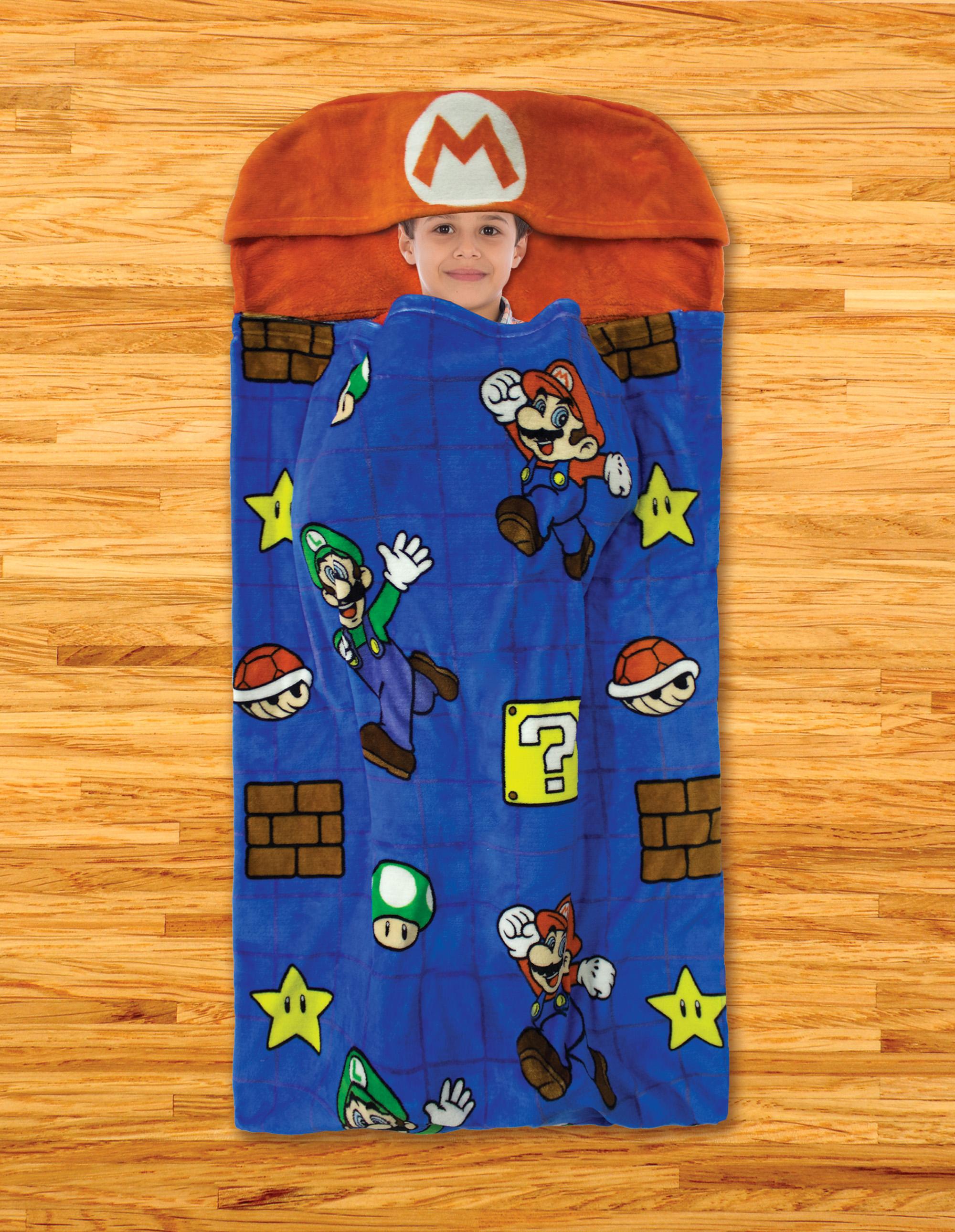 "30"" x 54"" Kids' Step-In Blanket Slumber Bags (Super Mario, L.O.L. Surprise!, Paw Patrol & More) $8.88 + Free Store Pickup at Walmart"